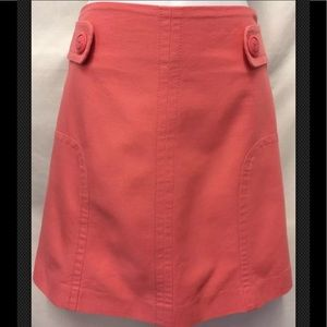 SITWELL Anthropologie A Line Pink Cotton Button